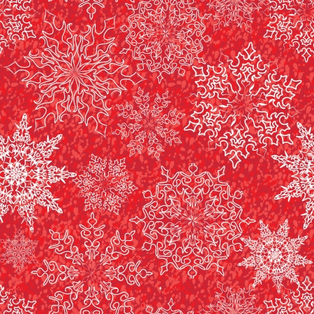 Snowflakes seamless pattern, christmas snow background Stock Vector - 16875633