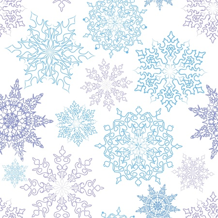 Snowflakes seamless pattern, christmas snow background Stock Vector - 16875601