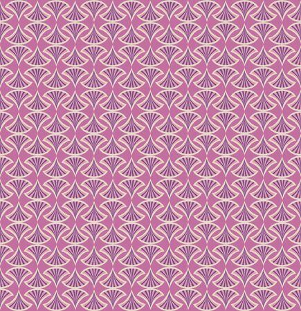 Floral pattern seamless  Fan vector motif  Pink background  Elegant wallpaper   Vector