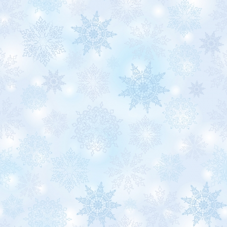 Snowflakes seamless pattern, christmas snow background Stock Vector - 16875634