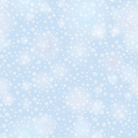 Snowflakes seamless pattern, christmas snow background   Vector