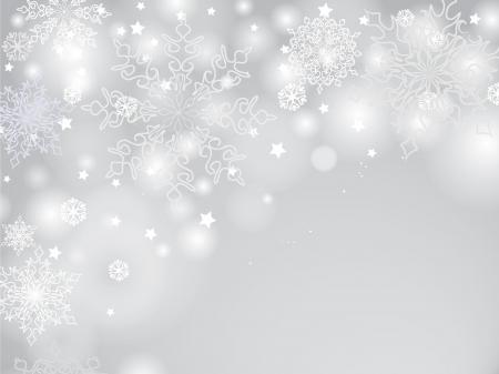 Snowflakes christmas pattern, snow border background