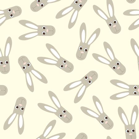 seamless gentle background from naive drawn rabbit  Vector