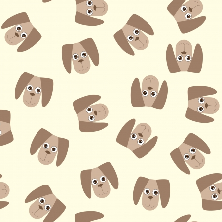 seamless gentle background from naive drawn dogs  Vector