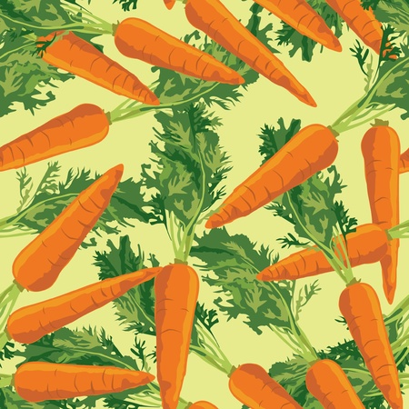 carrots seamless pattern  background with vegetables carrots Stock Vector - 17237955