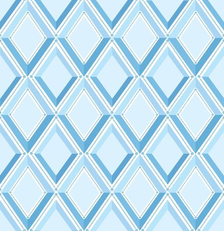 seamless pattern with blue diamonds  Vector