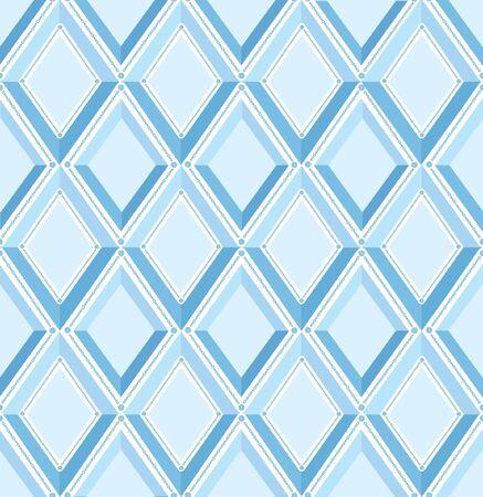 fantail: seamless pattern with blue diamonds