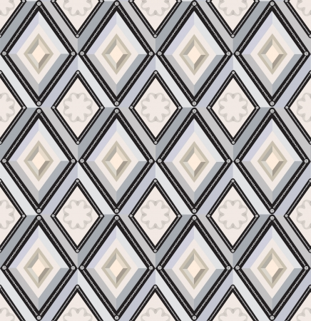 abstract yiled seamless pattern with gray and beige diamonds Stock Vector - 17238151
