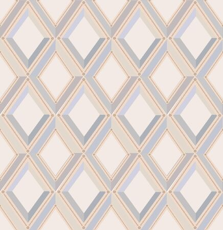 seamless pattern with gray and beige diamonds  Vector