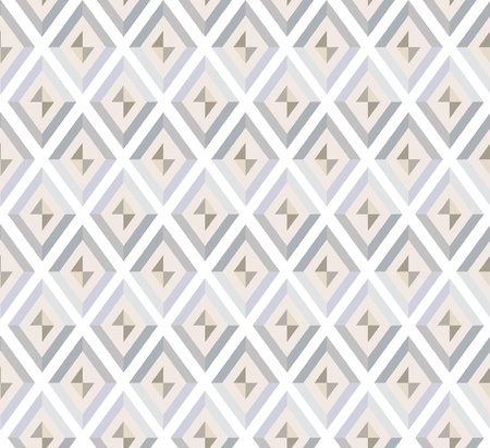 fantail: abstract seamless pattern  beige and gray diamonds  Illustration