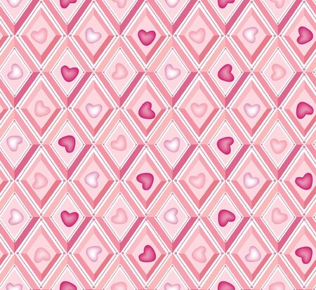 fantail: baby seamless vector pattern with lilac and pink diamonds  Illustration