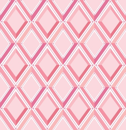 fantail: abstract seamless vector pattern with lilac and pink diamonds