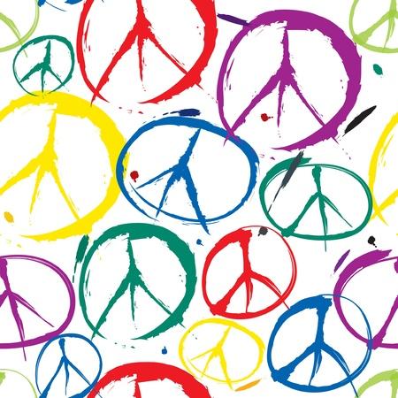 simbolo della pace: senza soluzione di modello con i simboli multicolor di pace
