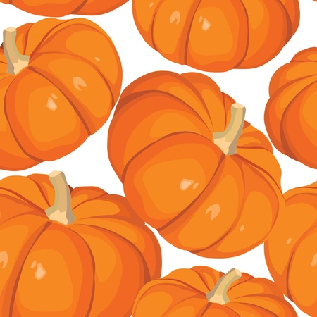 Halloween seamless background with pumkins on white  Stock Vector - 17203991