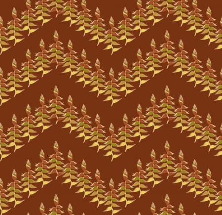 autumn leaves seamless pattern background  Vector