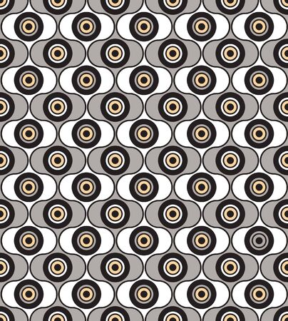 seamless pattern from abstract geometric ornament, black and white background  Stock Vector - 17203987
