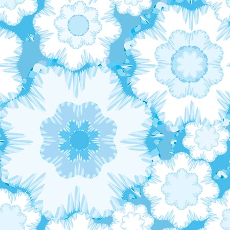 pale: snowflakes seamless pattern  Christmas background  Illustration