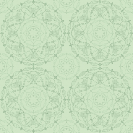 Abstract seamless pattern   plant motif on green background Vector
