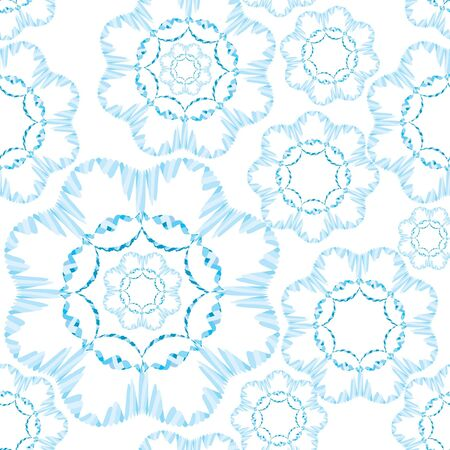 snowflakes seamless pattern  Christmas background  Vector