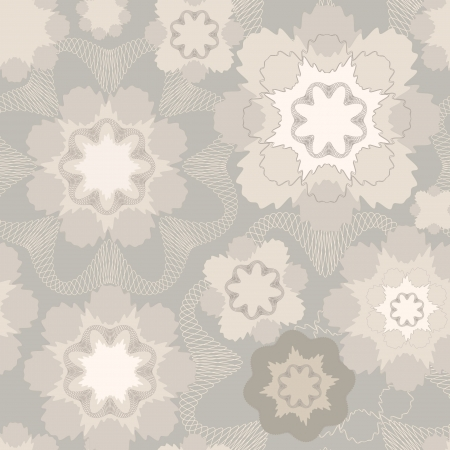 Abstract lacy floral seamless pattern  Retro background  Vector
