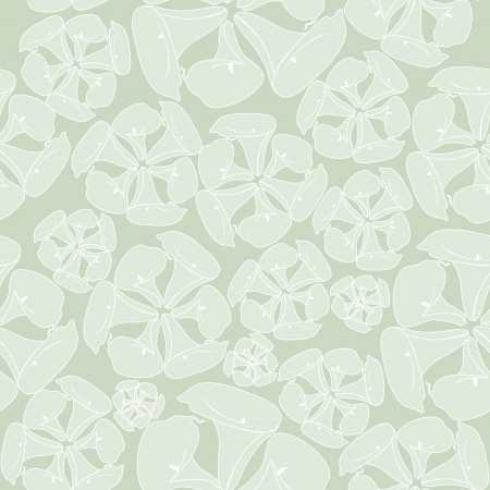 seamless pattern with white flowers cal on pastel background  Stock Vector - 17248094