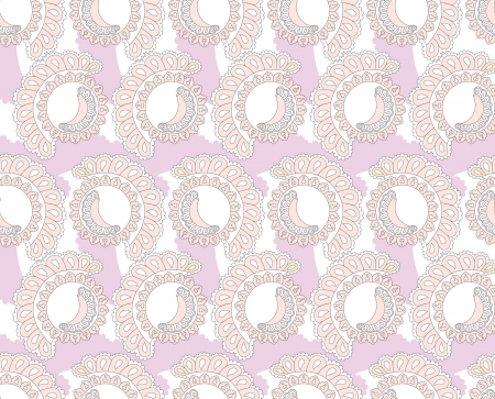 Abstract lacy seamless background with floral and geometric shapes Stock Vector - 17248366