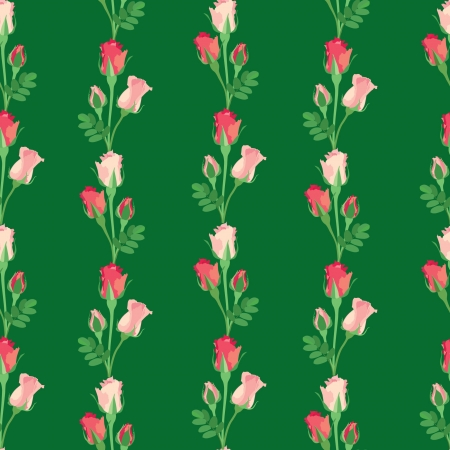 floral pattern  Roses seamless background  Stock Vector - 17248183