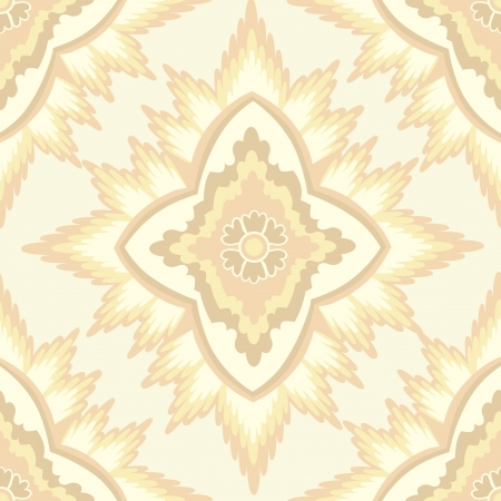 pale ocher: Abstract floral retro seamless pattern for page decoration