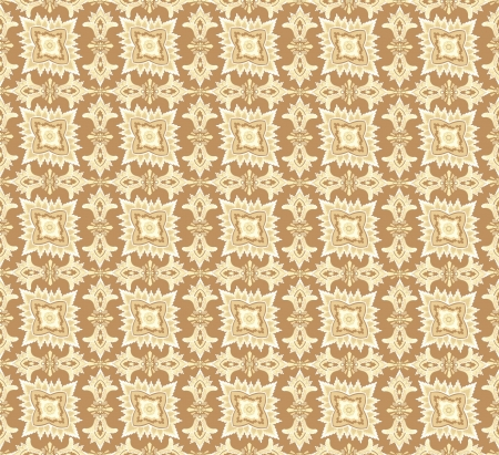 pale ocher: Abstract floral retro seamless pattern for page decoration  Vintage Vector Design Ornament  Illustration