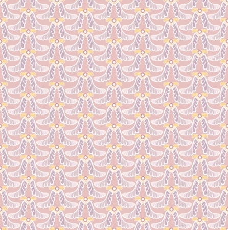 Floral pattern seamless  Fan vector motif  Pink background  Elegant wallpaper Stock Vector - 17260170