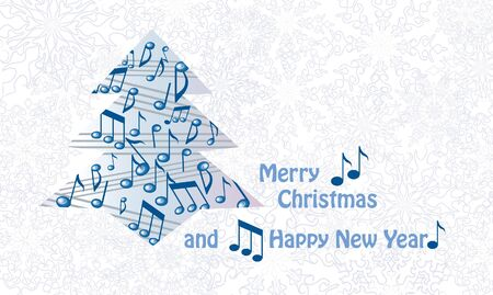 Music christmas greeting card  Vector