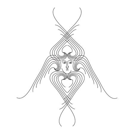 seraphim outline vector illustration Stock Vector - 17279137