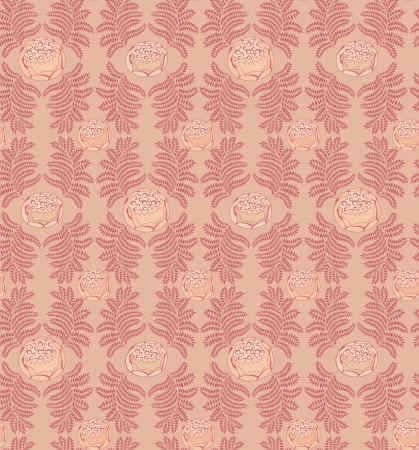 Abstract ornamental seamless texture  Floral seamless pattern   Leaves background Stock Vector - 17280088
