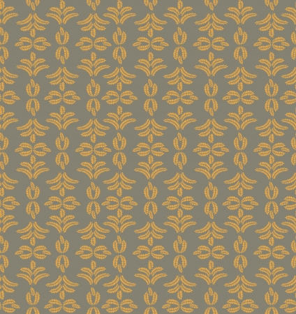 Abstract ornamental seamless texture  Floral seamless pattern   Leaves background  Stock Vector - 17280071