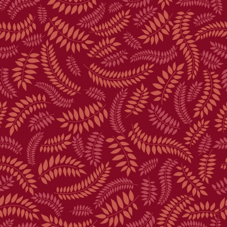 autumn leaves seamless pattern on purple background  Vector