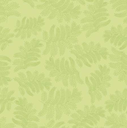 leaves seamless pattern on green background  Vector