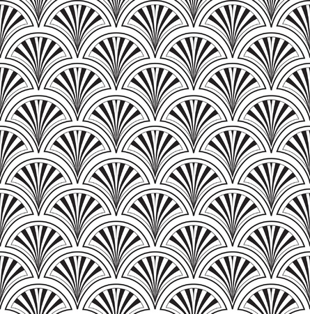 fantail: Abstract floral retro seamless pattern from lines for page decoration