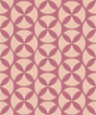Abstract floral retro seamless pattern from lines for page decoration Vector