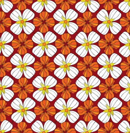 Abstract autumn floral ornamental seamless pattern with winter cherry Stock Vector - 17280000