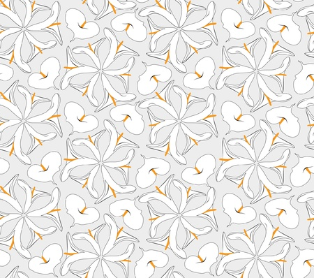 Abstract decorative floral retro seamless pattern with flower cal Vector