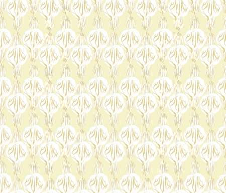 Abstract decorative floral retro seamless pattern  flower cal background Vector