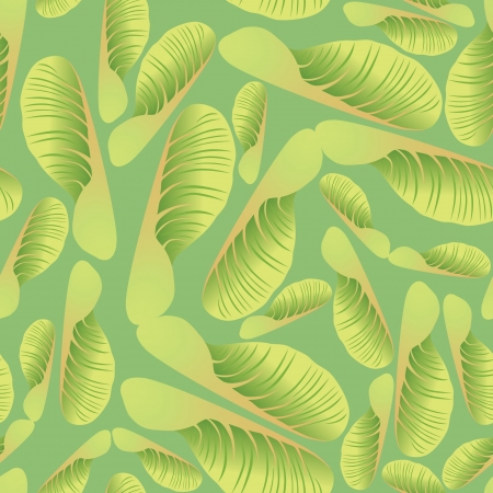 floral pattern, maple seed background Vector