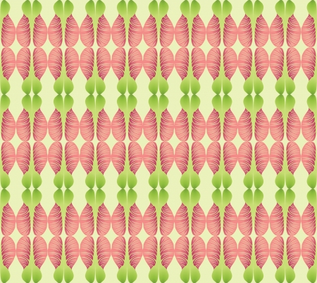 Abstract wavy lined pattern seamless  Floral ornamental background Vector