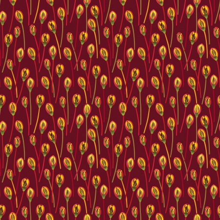 autumn motif: Abstract ornamental seamless texture  Floral seamless pattern   Flower background