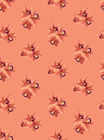 Floral seamless pattern with flowers orchids  Vector