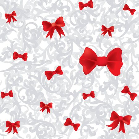 seamless bow christmas background  Stock Vector - 17271612