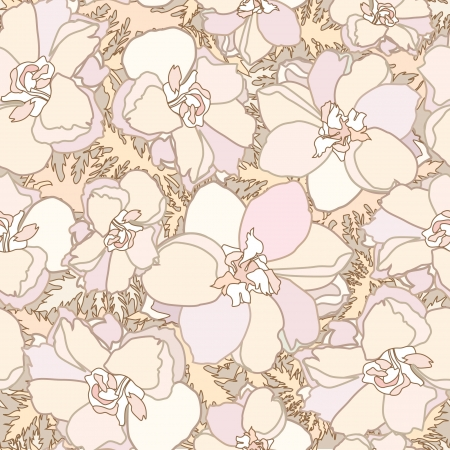 japanese motif: Abstract decorative floral retro seamless pattern with flower Illustration