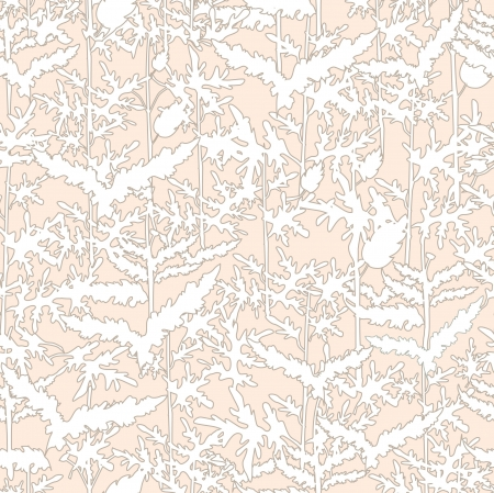 Abstract  floral retro seamless pattern  Fern leaf background Vector