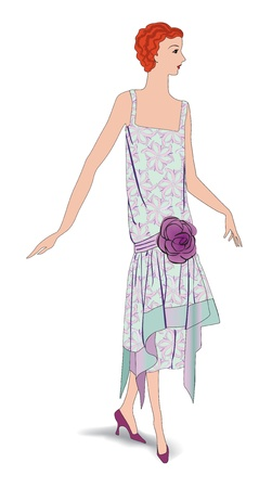 Flapper girls  20 s style   Retro fashion party 1930s Vector