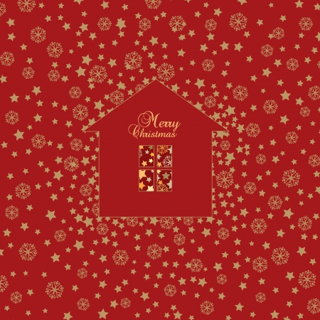 Christmas Greeting card  Vector Xmas Background  Stock Vector - 17280125